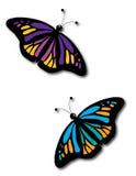 Dos mariposas Fotos de archivo