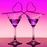 Dos Martini Fotografía de archivo libre de regalías