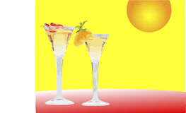 Dos martinis ilustración del vector