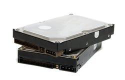 Dos mecanismos impulsores de disco duro. Imagen de archivo