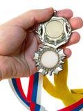 Dos medallas disponibles fotografía de archivo libre de regalías