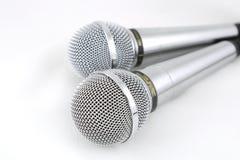 Dos micrófonos Fotografía de archivo