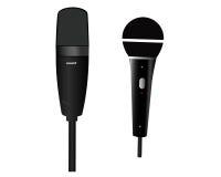 Dos micrófonos Fotos de archivo