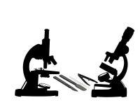 Dos microscopios Foto de archivo libre de regalías