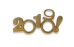 Dos miles y diecinueve Nuevo 2019 años en blanco Fotos de archivo