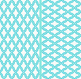 Dos modelos inconsútiles del cedazo abstracto del vector Foto de archivo