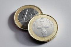 Euro de Chipre Imágenes de archivo libres de regalías