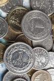 Dos monedas de un zloty Foto de archivo libre de regalías
