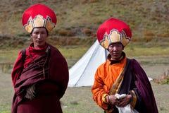 Dos monjes del tibetano Rnying-mA-PA Fotografía de archivo