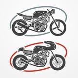 Dos motocicletas stock de ilustración