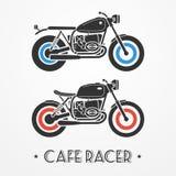 Dos motocicletas retras ilustración del vector