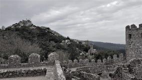 Dos Mouros城堡 免版税库存图片