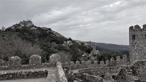 Dos Mouros castle. View of the castle of the Moors in Sintra Royalty Free Stock Images