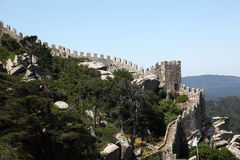 DOS Mouros, Sintra de Castelo Imagen de archivo libre de regalías