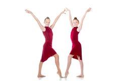 Dos muchachas adolescentes del bailarín hermoso Imagen de archivo libre de regalías