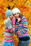 Dos muchachas adolescentes que se divierten Foto de archivo libre de regalías