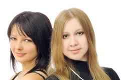 Dos muchachas bonitas imagen de archivo