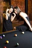 Dos muchachas en el vector de piscina Imagen de archivo libre de regalías