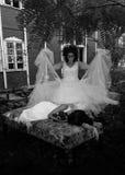Dos muchachas en escena gótica Fotografía de archivo