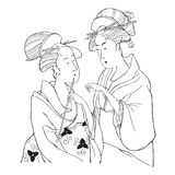 Dos muchachas japonesas Fotografía de archivo
