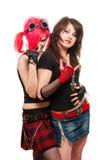 Dos muchachas punkyes foto de archivo libre de regalías