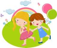 Dos muchachas son buen amigo Foto de archivo