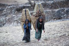 Dos muchachas tibetanas Foto de archivo libre de regalías