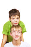 Dos muchachos blancos Imagen de archivo