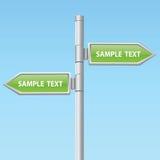 Dos muestras de la flecha del camino del vector Foto de archivo