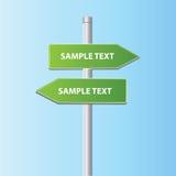 Dos muestras de la flecha del camino del vector Fotos de archivo libres de regalías