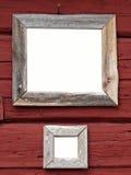 Dos muestras enmarcadas en blanco fotografía de archivo