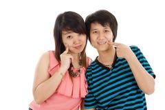 Dos mujeres asiáticas jovenes Imagenes de archivo