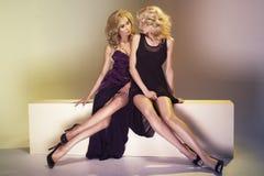 Dos mujeres atractivas Foto de archivo libre de regalías