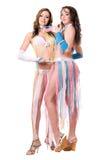 Dos mujeres bastante jovenes. Aislado Imagen de archivo libre de regalías