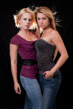Dos mujeres caucásicas rubias atractivas Foto de archivo
