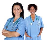 Dos mujeres del doctor Fotografía de archivo libre de regalías