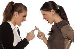 Dos mujeres enojadas Fotografía de archivo libre de regalías