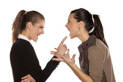 Dos mujeres enojadas Imagen de archivo