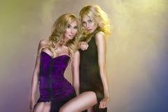 Dos mujeres hermosas Foto de archivo libre de regalías