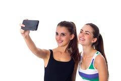 Dos mujeres jovenes que hacen el selfie Fotografía de archivo libre de regalías