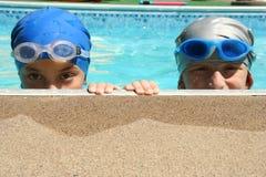 Dos nadadores Fotos de archivo libres de regalías