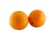 Dos naranjas Fotografía de archivo libre de regalías