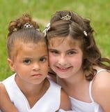 Dos niñas fotografía de archivo libre de regalías