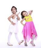 Dos niñas adorables Fotos de archivo libres de regalías