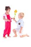 Dos niños fotos de archivo libres de regalías