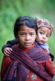 Dos niños del gurung Imagen de archivo