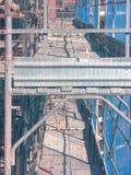 Dos niveles de andamio Foto de archivo libre de regalías