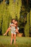 Dos novias felices Imagen de archivo libre de regalías