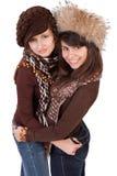 Dos novias jovenes felices Fotografía de archivo