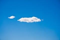 Dos nubes foto de archivo